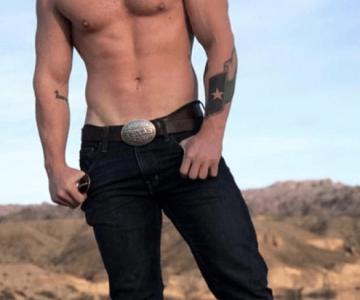 Gay Cowboy Posing